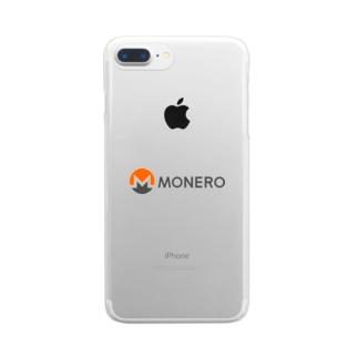 Monero モネロ Clear smartphone cases