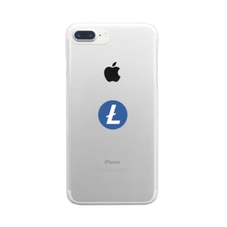 Litecoin ライトコイン Clear smartphone cases