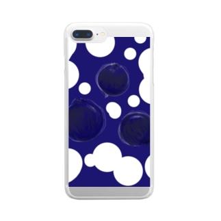 ブルーベリー Clear smartphone cases