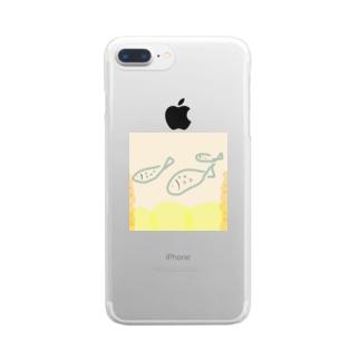 泳ぐサカナ Clear smartphone cases