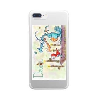 ドラネットふぉん Clear smartphone cases