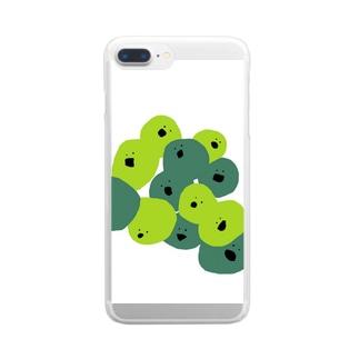 さいぼぼ Clear smartphone cases