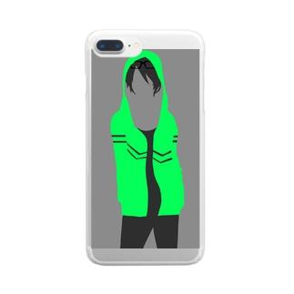 シルエットくん Clear smartphone cases
