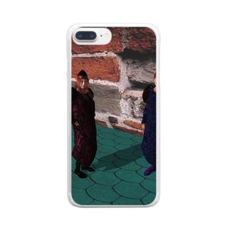 魔法学園 Clear smartphone cases