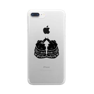 〝俺の女に触れるな〟 Clear smartphone cases