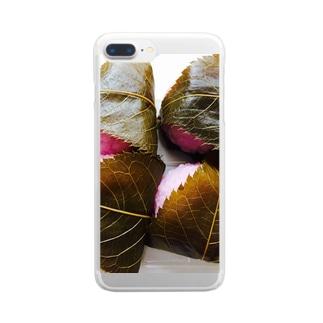 道明寺 Clear smartphone cases