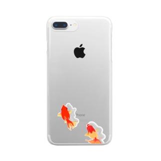 住みつく金魚 Clear smartphone cases