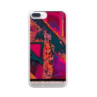 錆びて剥がれて灼熱 ~ ワイン Clear smartphone cases