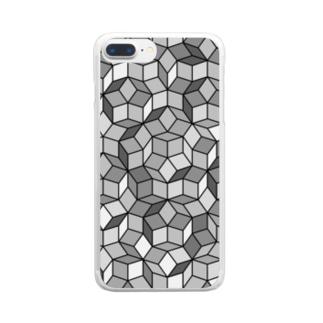 ペンローズモザイク Clear smartphone cases