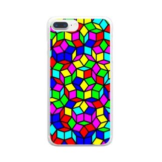 ペンローズモザイク(カラー) Clear smartphone cases