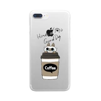 いい日になるコーヒーB Clear smartphone cases