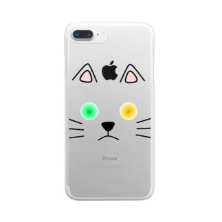 オッドアイ Clear smartphone cases