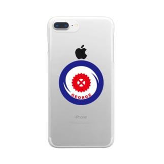 パ紋No.3338 GEORGE Clear smartphone cases