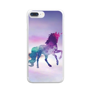 幸せのユニコーン Clear smartphone cases