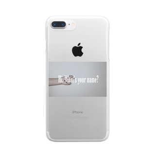 Hi. What's your name? Clear smartphone cases