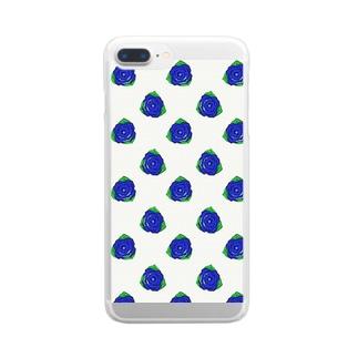 Brue Rose シンプル  Clear smartphone cases