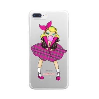 ロカビリーガールⅡ【pink】 Clear smartphone cases