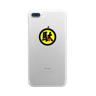 駄ポン【クリア】色ロゴ Clear smartphone cases