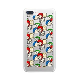 駄ポン【みっちり数珠繋ぎ】クリア Clear smartphone cases