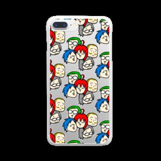 駄菓子菓子の駄ポン【みっちり数珠繋ぎ】クリア Clear smartphone cases