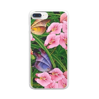 Orchid Garden  Clear smartphone cases