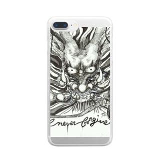 AnomaliA-Nachiのドラゴン-Never Frogive1 Clear smartphone cases