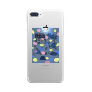 サタデー・こいぬ・フィーバー Clear smartphone cases