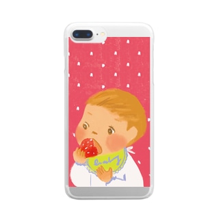 イチゴちゃん Clear Smartphone Case