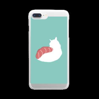 お寿司のネコ寿司 - nekosushi - Clear smartphone cases