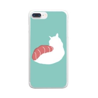 ネコ寿司 - nekosushi - Clear smartphone cases