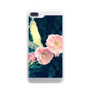 時の流れ Clear smartphone cases