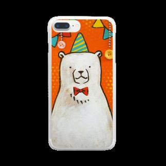 佐山周市のしろくまパーティ Clear smartphone cases