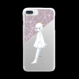 てんしちゃんのへんないろの てんしちゃん Clear smartphone cases