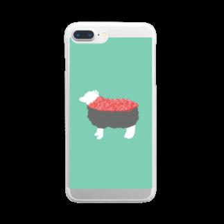 お寿司のひつじ寿司 -susheep- Clear smartphone cases