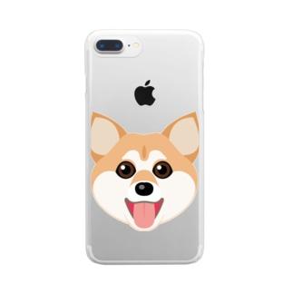 かわいい柴犬 Clear smartphone cases