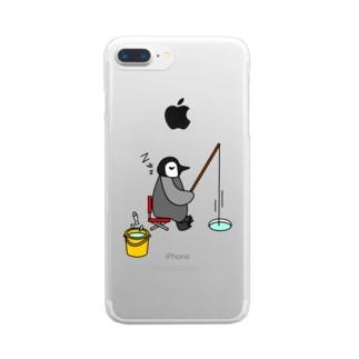 フィッシングペンギン Clear smartphone cases