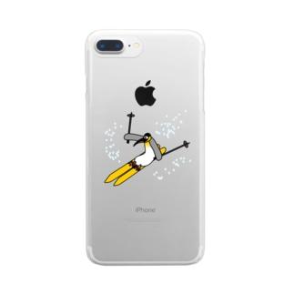 スキーペンギン Clear smartphone cases
