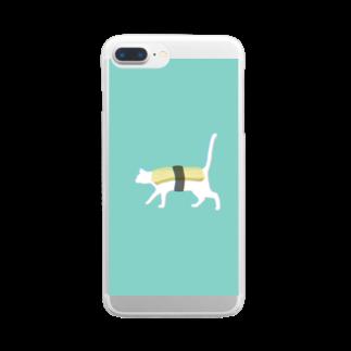 お寿司のネコ寿司 - neko sushi tamago - Clear smartphone cases