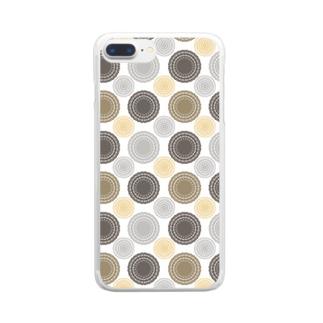 レース柄 Clear smartphone cases