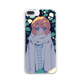 冬の日 Clear smartphone cases