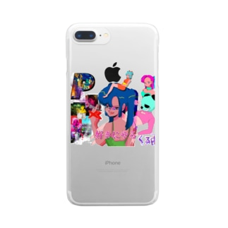 panko×くるおし コラボ商品 Clear smartphone cases