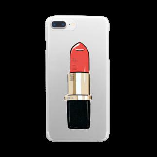 TERADA のLipstick Clear smartphone cases