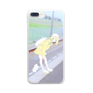 ほにゃーんねこ Clear smartphone cases