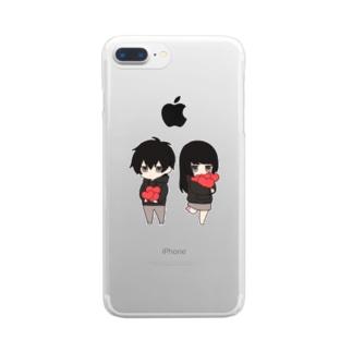 無気力カップル Clear smartphone cases