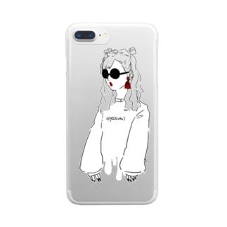 シマちゃん Clear smartphone cases