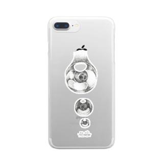 点々で水滴。 Clear smartphone cases