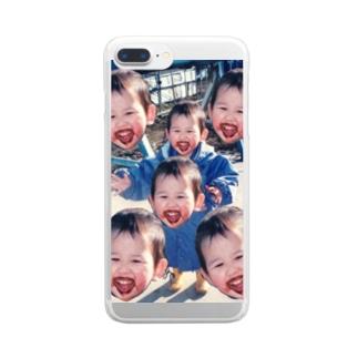 チョコまみれの子どもたち Clear smartphone cases