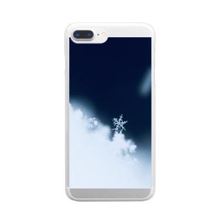 雪の結晶 Clear smartphone cases