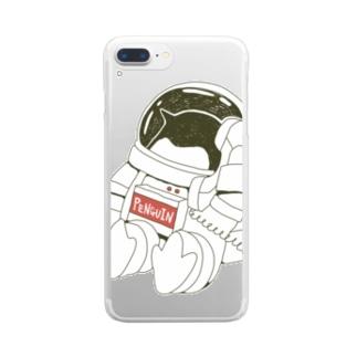 ペンギンコール・うちゅう Clear smartphone cases
