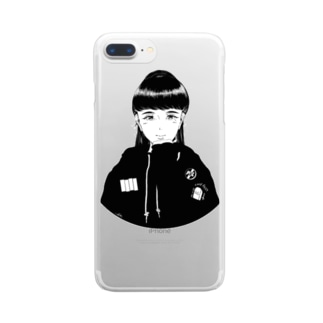 punk girl Clear smartphone cases